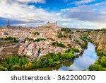 toledo  spain old town city... | Shutterstock . vector #362200070