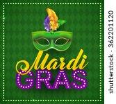mardi gras party mask poster.... | Shutterstock .eps vector #362201120