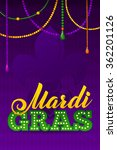 mardi gras party poster.... | Shutterstock .eps vector #362201126