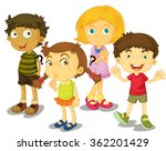 cute boys and girls together... | Shutterstock .eps vector #362201429