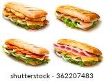 set of pannini sandwiches ... | Shutterstock . vector #362207483
