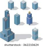 skyscraper set 1 | Shutterstock .eps vector #362210624