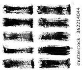 set of grunge brush strokes  ... | Shutterstock . vector #362214044