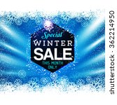 big winter sale poster with... | Shutterstock .eps vector #362214950