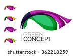 set of abstract eco plant icons ... | Shutterstock .eps vector #362218259
