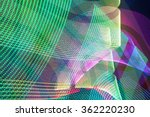 led light trails in space   Shutterstock . vector #362220230