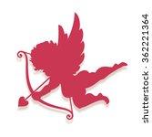 vector cupid silhouette... | Shutterstock .eps vector #362221364