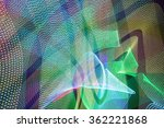 led light trails in space   Shutterstock . vector #362221868