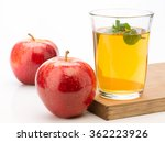 apple soda with lemon and mint | Shutterstock . vector #362223926