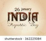 indian republic day concept... | Shutterstock .eps vector #362225084