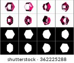 different rotation gem. alpha... | Shutterstock . vector #362225288