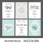 set of save the date cards ... | Shutterstock .eps vector #362226188