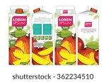 mango juice template packaging... | Shutterstock .eps vector #362234510