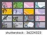 set of business cards | Shutterstock .eps vector #36224323
