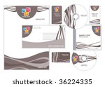 abstract letterhead template... | Shutterstock .eps vector #36224335