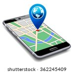 location pointer with world... | Shutterstock . vector #362245409
