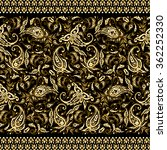 paisley seamless textile... | Shutterstock .eps vector #362252330
