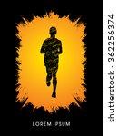 running man  designed using... | Shutterstock .eps vector #362256374