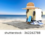 sea hat and summer bag  | Shutterstock . vector #362262788