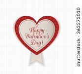 valentines day heart emblem... | Shutterstock .eps vector #362272010