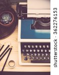 hipster work space | Shutterstock . vector #362276153