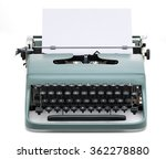 Vintage Typewriter With Blank...