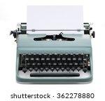 vintage typewriter with blank... | Shutterstock . vector #362278880