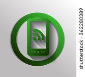 smartphone with the symbol rss | Shutterstock .eps vector #362280389