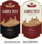 wine labels set with a... | Shutterstock .eps vector #362280464