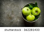 Fresh Green Apples In The...