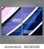 vector brochure template design ... | Shutterstock .eps vector #362283260