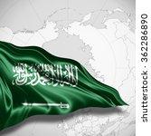 saudi arabia flag of silk with... | Shutterstock . vector #362286890