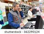 mechanic in car repair shop...   Shutterstock . vector #362290124