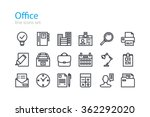 office. colorless line icons... | Shutterstock .eps vector #362292020