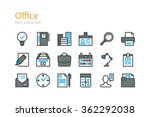 office. color line icons set.... | Shutterstock .eps vector #362292038