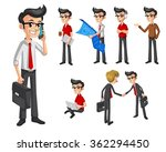 set of modern businessman in... | Shutterstock .eps vector #362294450