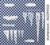 set of icicles different sizes  ... | Shutterstock .eps vector #362294510