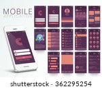 different ui  ux  gui screens... | Shutterstock .eps vector #362295254