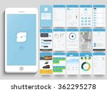 creative ui  ux  gui layout for ... | Shutterstock .eps vector #362295278