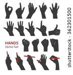 vector hands silhouette in...   Shutterstock .eps vector #362301500