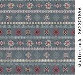 tribal art ethnic seamless... | Shutterstock . vector #362301896