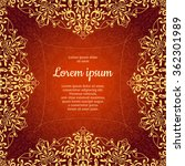 wedding card or invitation with ... | Shutterstock .eps vector #362301989
