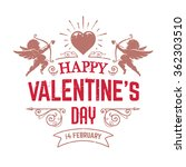 vector valentines day greeting... | Shutterstock .eps vector #362303510