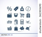 shopping icons | Shutterstock .eps vector #362303690