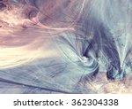 Fantasy Landscape In Soft Blue...