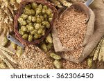 beer ingredients     hops ...   Shutterstock . vector #362306450