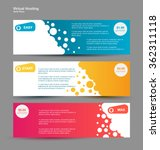 set horizontal web banners....