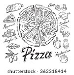 vector black pizza icon on... | Shutterstock .eps vector #362318414