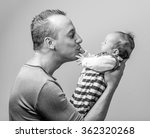 pride father holding his little ... | Shutterstock . vector #362320268