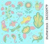 floral background pattern.... | Shutterstock .eps vector #362320979